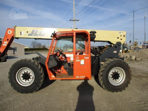 2008 JLG G6-42A 6000 LB DIESEL TELESCOPIC FORKLIFT TELEHANDLER PNEUMATIC 4WD 4145 HOURS STOCK # BF9421039-CEIL