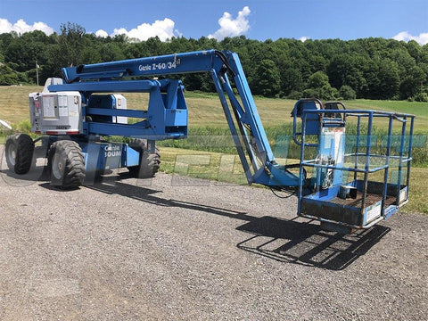 1994 GENIE Z60/34 ARTICULATING BOOM LIFT AERIAL LIFT 60' REACH DUAL FUEL 3743 HOURS STOCK # BF9169559-ISNY