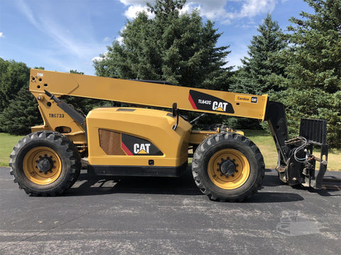 2014 CATERPILLAR TL642C 6000 LB DIESEL TELESCOPIC FORKLIFT TELEHANDLER PNEUMATIC 4WD 1359 HOURS STOCK # BF9592219-ISNY - United Lift Used & New Forklift Telehandler Scissor Lift Boomlift