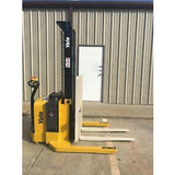 2015 YALE MSW040SFN24TV087 4000 LB ELECTRIC FORKLIFT WALKIE STACKER CUSHION 87/130 2 STAGE MAST 224 HOURS STOCK # 10157-956883-ARB - United Lift Used & New Forklift Telehandler Scissor Lift Boomlift