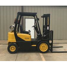 2003 DAEWOO G20E-3 4000 LB LP GAS FORKLIFT PNEUMATIC 84/127 2 STAGE MAST 7649 HOURS STOCK # 8712-X06028-ARB - united-lift-equipment