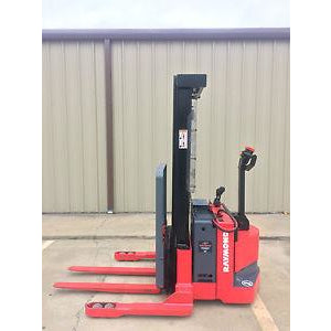 2006 RAYMOND RSS40 4000 LB ELECTRIC FORKLIFT WALKIE STACKER 86/128 2 STAGE MAST CUSHION SIDE SHIFTER 3559 HOURS STOCK # 5673-781517-ARB - united-lift-equipment