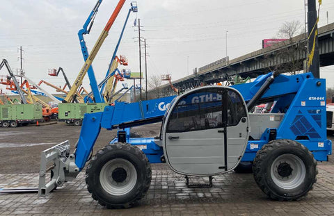 2012 GENIE GTH844 8000 LB DIESEL TELESCOPIC FORKLIFT TELEHANDLER PNEUMATIC 4WD ENCLOSED HEATED CAB 3088 HOURS STOCK # BF9440099-NLEQ - United Lift Used & New Forklift Telehandler Scissor Lift Boomlift