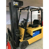 "1999 CATERPILLAR EP18KT 3,500 lb CAPACITY ELECTRIC 3 WHEEL 89/256"" 3 STAGE MAST PNEUMATIC 5676 HOURS STOCK # BF930749-MWWI - united-lift-equipment"
