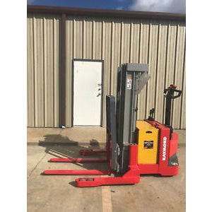 2003 RAYMOND DSX40 4000 LB ELECTRIC FORKLIFT WALKIE STACKER CUSHION 72/150 3 STAGE MAST 349 HOURS STOCK # 5944-323979-ARB - united-lift-equipment