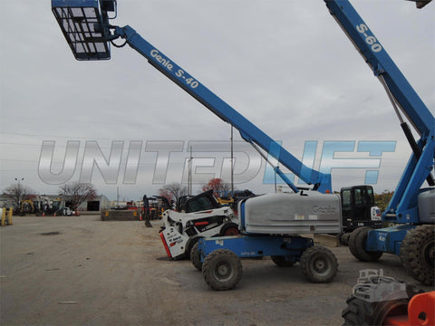 2006 GENIE S40 TELESCOPIC BOOM LIFT STRAIGHT AERIAL LIFT 40' REACH 4WD DIESEL 4WD 3188 HOURS STOCK # BF9108829-DBUF