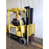 2011 HYSTER E40XN 4000 LB ELECTRIC CUSHION 88/198 3 STAGE MAST SIDE SHIFTER STOCK # 21102-NCB