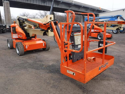 2016 JLG E450AJ ARTICULATING BOOM LIFT AERIAL LIFT WITH JIB ARM 45' REACH ELECTRIC 2WD 429 HOURS STOCK # BF9373119-NLEQ - United Lift Used & New Forklift Telehandler Scissor Lift Boomlift