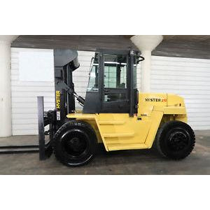 HYSTER H210XL 21000 LB DIESEL FORKLIFT PNEUMATIC 111/144 2 STAGE MAST DUAL TIRES ENCLOSED CAB 5652 HOURS STOCK # BF50732-DPA