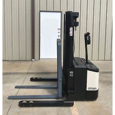 CROWN WS 2000 4000 LB ELECTRIC FORKLIFT WALKIE STACKER CUSHION 72/160 3 STAGE MAST 8482 HOURS STOCK # 5941-114921-ARB
