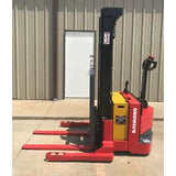 2008 RAYMOND RSS40 4000 LB ELECTRIC FORKLIFT WALKIE STACKER CUSHION SIDE SHIFTER 800 HOURS STOCK # 6927-803491-ARB