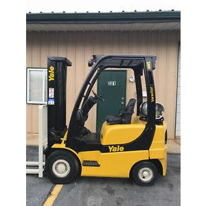 2006 YALE GLP040 4000 LB LP GAS FORKLIFT PNEUMATIC 84/130 2 STAGE MAST 3838 HOURS STOCK # 10008-02026D-ARB