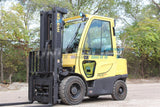 "2015 HYSTER H60FT 6000 LB LP GAS FORKLIFT PNEUMATIC 187"" 3 STAGE MAST SIDE SHIFTING FORK POSITIONER ENCLOSED CAB 3900 HOURS STOCK # BF9HYS185N9-RIL2"
