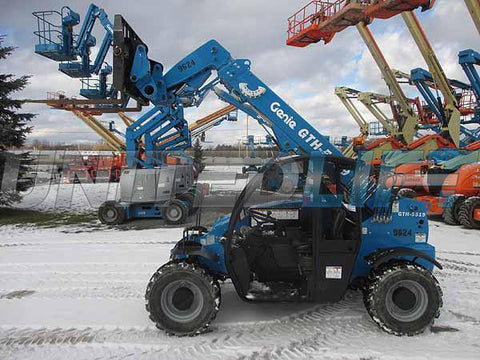 2018 GENIE GTH5519 5500 LB DIESEL TELESCOPIC FORKLIFT TELEHANDLER PNEUMATIC 4WD 626 HOURS STOCK # BF9515089-HLNY