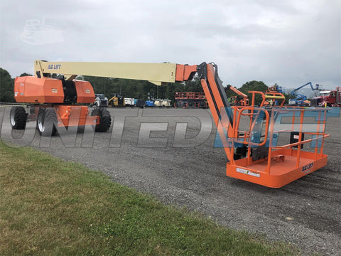 2011 JLG 860 SJ STRAIGHT BOOM LIFT AERIAL LIFT WITH JIB ARM 86' REACH DIESEL 4WD 1392 HOURS STOCK # BF9842339-ISNY