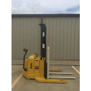 2004 YALE MSW040SEN24TV087 4000 LB ELECTRIC FORKLIFT WALKIE STACKER CUSHION 87/130 2 STAGE MAST 83 HOURS STOCK # 5316-558292-ARB - united-lift-equipment