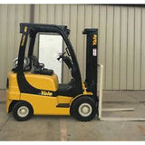 2006 YALE GLP040 4000 LB LP GAS FORKLIFT PNEUMATIC 84/130 2 STAGE MAST 7463 HOURS STOCK # 8806-407288-ARB