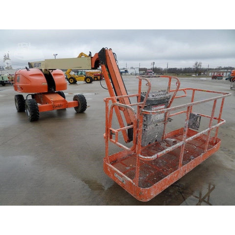 2012 JLG 460SJ STRAIGHT BOOM LIFT AERIAL LIFT WITH JIB ARM 46' REACH DIESEL 4WD 3375 HOURS STOCK # BF973309-FILB
