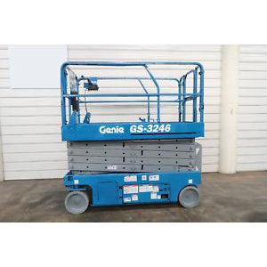 2008 GENIE GS3246 SCISSOR LIFT 32' REACH ELECTRIC SMOOTH CUSHION TIRES 458 HOURS STOCK # BF94657-DPA