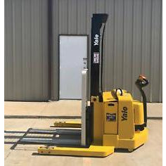 2007 YALE MSW040SEN24TV087 4000 LB ELECTRIC FORKLIFT WALKIE STACKER CUSHION 87/130 2 STAGE MAST 2798 HOURS STOCK # 5920-04008E-ARB