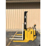 2005 YALE MSW040SEN24TV087 4000 LB ELECTRIC FORKLIFT WALKIE STACKER CUSHION 87/130 2 STAGE MAST 1361 HOURS STOCK # 5231-558288-ARB - United Lift Used & New Forklift Telehandler Scissor Lift Boomlift