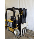 2012 YALE ERC050VG 5000 LB 48 VOLT ELECTRIC FORKLIFT 84/240 QUAD MAST SIDE SHIFTER 5306 HOURS STOCK # 21116-NCB