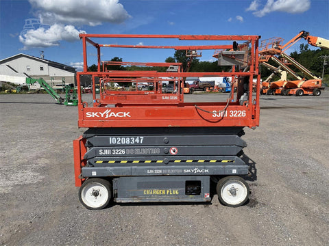 2014 SKYJACK SJ3226 SCISSOR LIFT 26' REACH ELECTRIC SMOOTH CUSHION TIRES 152 HOURS STOCK # BF973099-BATNY - United Lift Used & New Forklift Telehandler Scissor Lift Boomlift