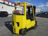 2006 HYSTER S80XMBCS 8000 LB LP GAS FORKLIFT CUSHION 86/173 3 STAGE MAST SIDE SHIFTER 2659 HOURS STOCK # BF9045879-ESPA