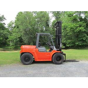 2002 TOYOTA 7FDU70 15000 LB DIESEL FORKLIFT PNEUMATIC 128/180 2 STAGE MAST DUAL TIRES 8699 HOURS STOCK # BF65190-DPA - Buffalo Forklift LLC