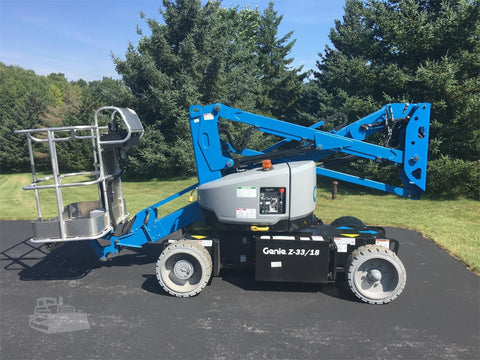 2017 GENIE Z33/18 ARTICULATING BOOM LIFT AERIAL LIFT 33' REACH ELECTRIC 4WD BRAND NEW STOCK # BF9391749-ISNY