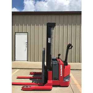 2004 RAYMOND RSS40 4000 LB ELECTRIC FORKLIFT WALKIE STACKER 60/128 2 STAGE MAST CUSHION SIDE SHIFTER 12394 HOURS STOCK # 5056-178636-ARB - united-lift-equipment
