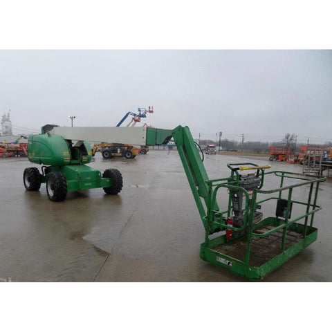 2010 JLG 660SJ TELESCOPIC BOOM LIFT AERIAL LIFT WITH JIB ARM 66' REACH DIESEL 4WD 4431 HOURS STOCK # BF973089-FILB
