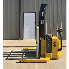 2006 YALE MSW040SFN24TV087 4000 LB ELECTRIC FORKLIFT WALKIE STACKER CUSHION 87/130 2 STAGE MAST 2078 HOURS STOCK # 5907-03691D-ARB