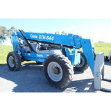 2012 GENIE GTH844 8000 LB DIESEL TELESCOPIC FORKLIFT TELEHANDLER PNEUMATIC 4WD ENCLOSED CAB 2205 HOURS STOCK # BF64440-DPA