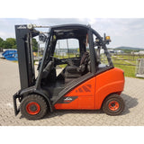 2012 LINDE H35D 7000 LB DIESEL FORKLIFT PNEUMATIC 85/183 3 STAGE MAST ENCLOSED CAB 7572 HOURS STOCK # BF9268239-369-BUF