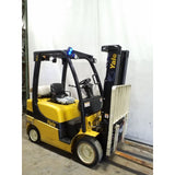 2010 YALE GLC050LX 5000 LB LP GAS FORKLIFT CUSHION 87/188 3 STAGE MAST SIDE SHIFTER 6251 HOURS STOCK # 21289-NCB