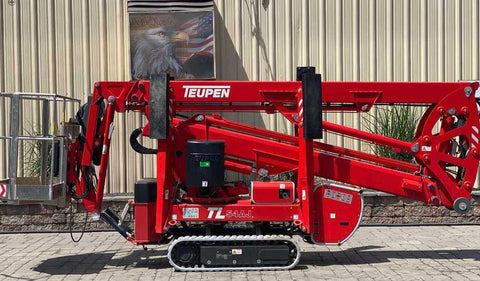 2018 TEUPEN TL54AJ TRAX BOOM LIFT ARTICULATING WITH JIB ARM LIFT ELECTRIC 54' REACH TRAX TIRES 445 HOURS STOCK # BF9791479-NLEQ