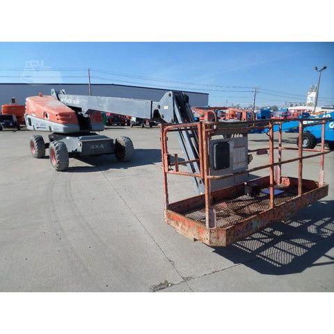 2008 SKYJACK SJ45T STRAIGHT BOOM LIFT AERIAL LIFT WITH JIB ARM 45' REACH DIESEL 4WD 3292 HOURS STOCK # BF970809-FILB