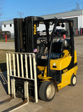 "2014 YALE GLC060VX 6000 LB LP GAS FORKLIFT CUSHION 84/240"" QUAD MAST SIDE SHIFTER 3917 HOURS STOCK # BF9249959-RIL - United Lift Used & New Forklift Telehandler Scissor Lift Boomlift"