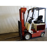2002 NISSAN C5P01L155 3000 LB LP GAS FORKLIFT CUSHION 83/187 3 STAGE MAST SIDE SHIFTER STOCK # 20119-NCB - Buffalo Forklift LLC