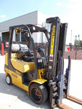 "2011 YALE GLC060VX 6000 LB LP GAS FORKLIFT CUSHION 88/187"" 3 STAGE MAST SIDE SHIFTER STOCK # BF980556-RIL"