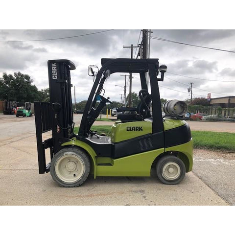 2015 CLARK C30 6000 LB LP GAS FORKLIFT PNEUMATIC 84/189 3 STAGE MAST SIDE SHIFTER 7226 HOURS STOCK # BFCE3349-PRTX