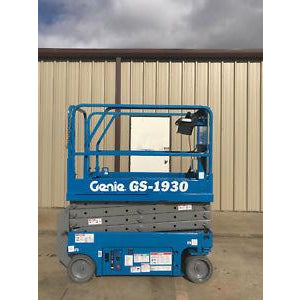 2003 GENIE GS1930 SCISSOR LIFT 19' REACH ELECTRIC 973 HOURS STOCK # 6077-413278-ARB - united-lift-equipment