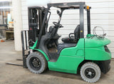 2012 MITSUBISHI FG25N 5000 LB DUAL FUEL FORKLIFT PNEUMATIC 77/170 3 STAGE MAST SIDE SHIFTER 1801 HOURS STOCK # BF532531-DPA