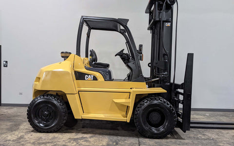 "2015 CAT DP70N 15500 DIESEL FORKLIFT PNEUMATIC 114/148"" 2 STAGE MAST DUAL TIRES SIDE SHIFTER STOCK # BF9370219-BUF - United Lift Equipment LLC"