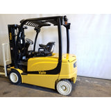 2010 YALE ERP050VL 5000 LB ELECTRIC PNEUMATIC FORKLIFT 83/189 3 STAGE MAST SIDE SHIFTER 7456 HOURS STOCK # 18969-NCB