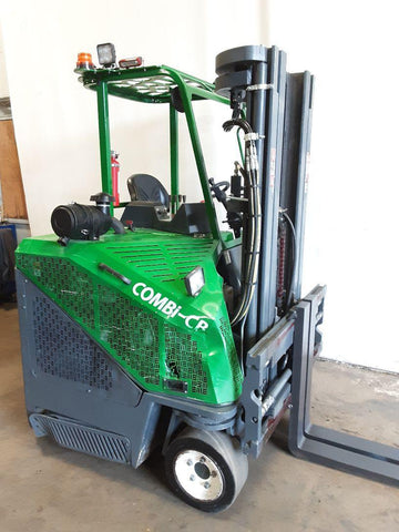 "2018 COMBI CB6000 6000 LB LP GAS FORKLIFT CUSHION 87/195"" 3 STAGE MAST SIDE SHIFTING FORK POSITIONER 1695 HOURS STOCK # BF9232799-NCB"