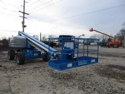 2013 GENIE S60X TELESCOPIC STRAIGHT BOOM LIFT AERIAL LIFT 60' REACH DIESEL 4WD 3204 HOURS STOCK # BF9431149-CEIL