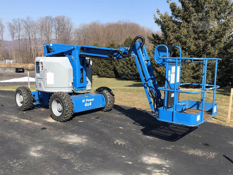 2016 GENIE Z34/22IC ARTICULATING BOOM LIFT AERIAL LIFT WITH JIB ARM 34' REACH DIESEL 4WD 261 HOURS STOCK # BF9451769-ISNY