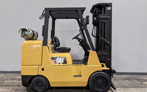 "2012 CAT GC45K-SWB 10000 LB LP GAS FORKLIFT CUSHION 92/189"" 3 STAGE MAST STOCK # BF9194469-ILIL - United Lift Used & New Forklift Telehandler Scissor Lift Boomlift"